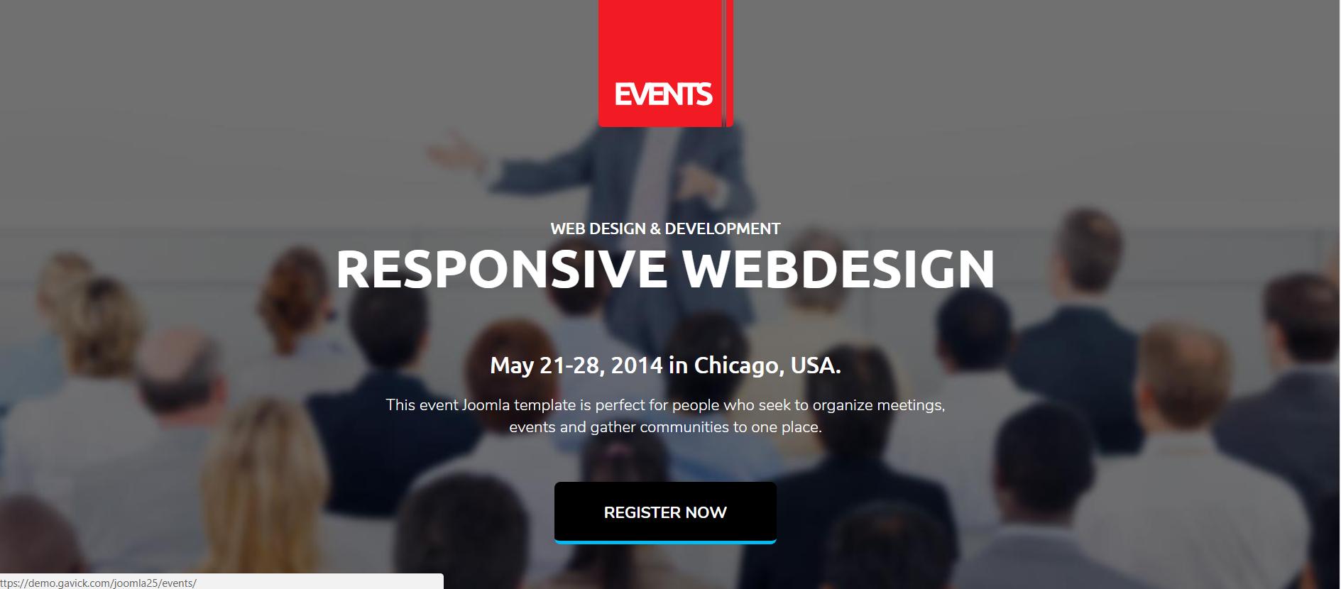EVENT MANAGER   Joomla & Wordpress Template