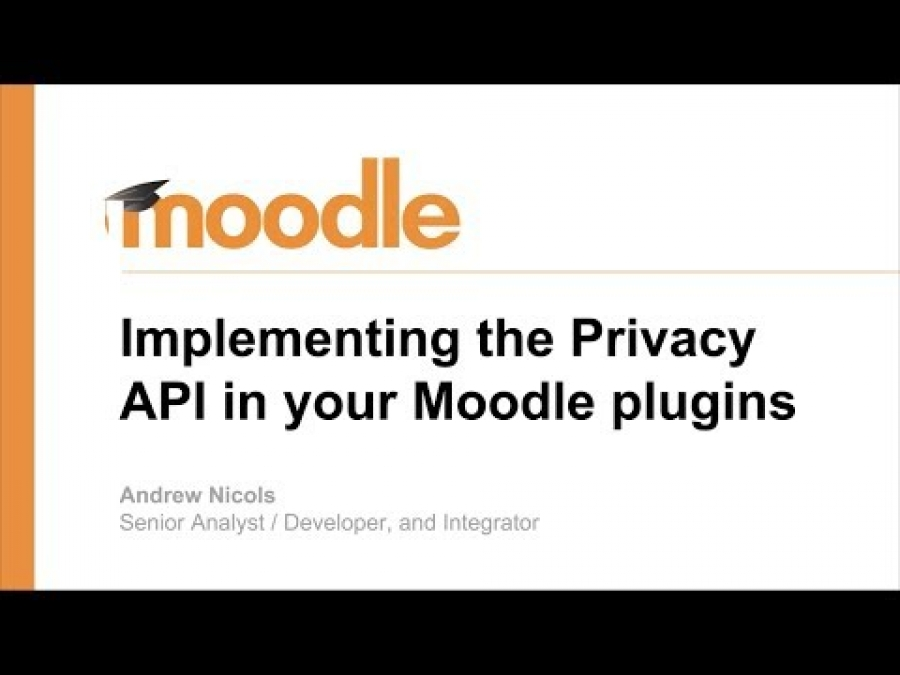 Implementing the Privacy API in your Moodle plugin - GDPR
