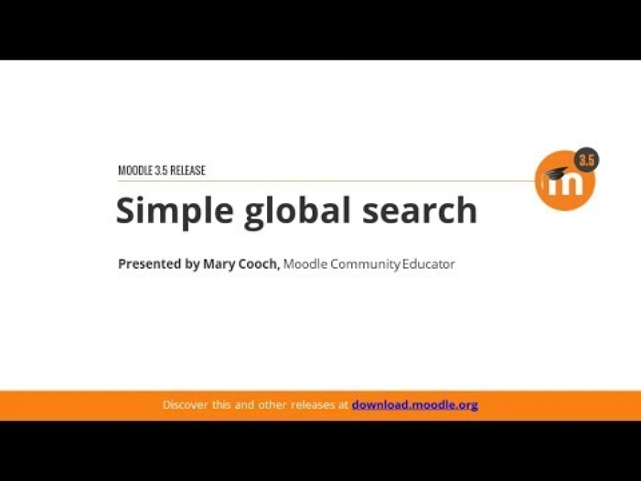 Simple GlobalSearch in Moodle 3.5