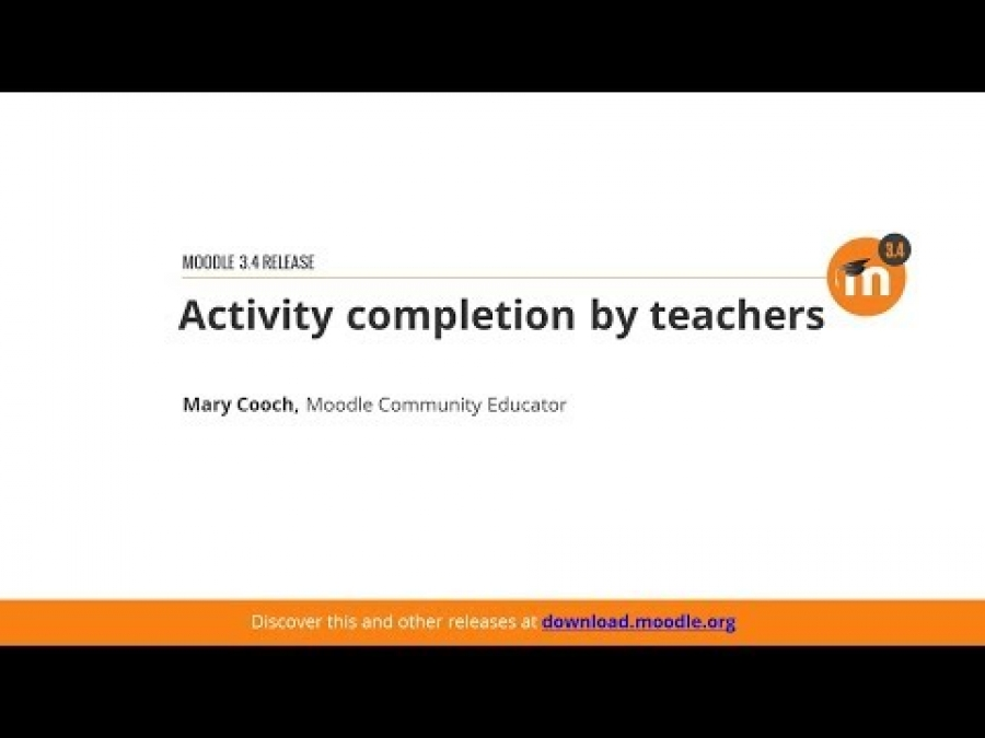Teacher Completion In Moodle 3.4