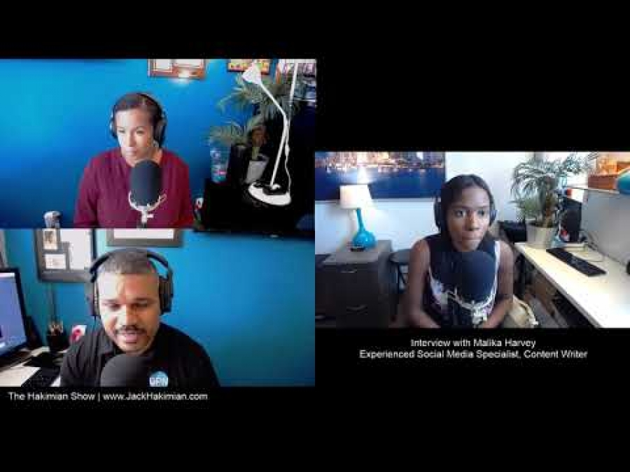The Hakimian Show interview with Malika Harvey- How Did You Become A Content Writer (1 of 5)